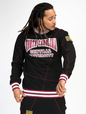 "North Carolina Central University Original '92 ""Frankenstein"" Crewneck Sweatsuit Black/Maroon"