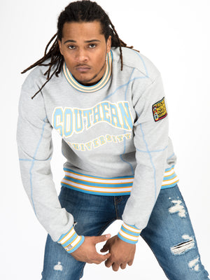 "Southern University Original '92 ""Frankenstein"" Crewneck MDH Grey/Carolina"