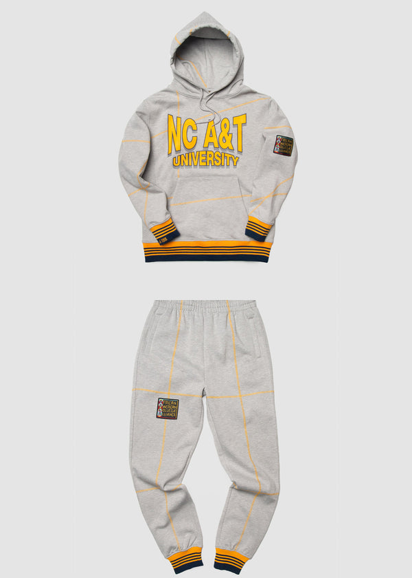 "North Carolina A&T University '93  ""Frankenstein"" Sweatsuit - MDH Grey/Gold"