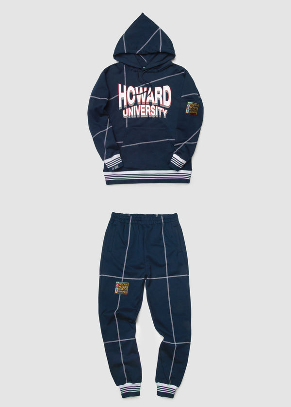 "Howard University '93 ""Frankenstein"" Sweatsuit - Navy/White"