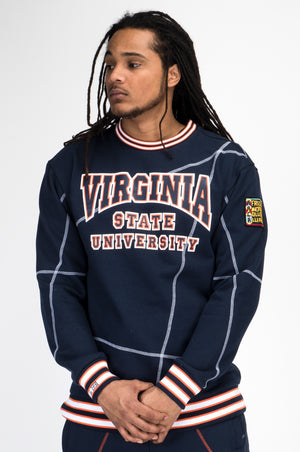 "Virginia State University Original '92 ""Frankenstein"" Crewneck Navy/White"