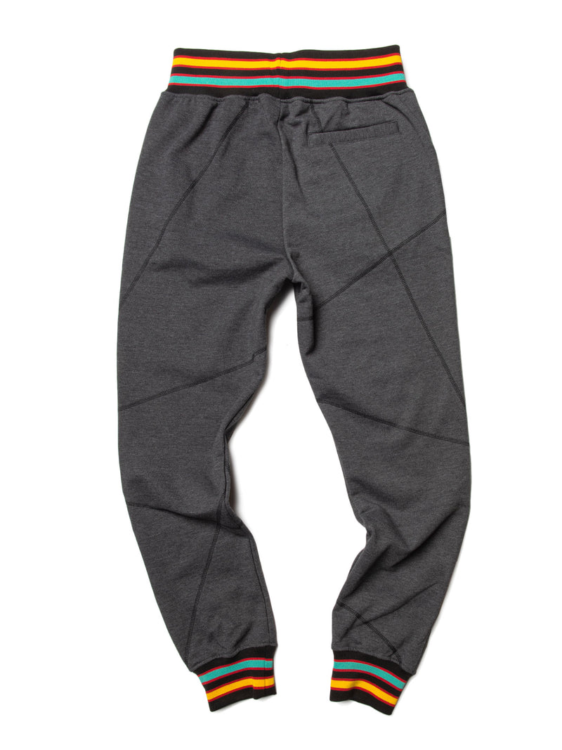 "AACA Original '92 ""Frankenstein"" Stitched Sweatpants Charcoal Grey / Black"