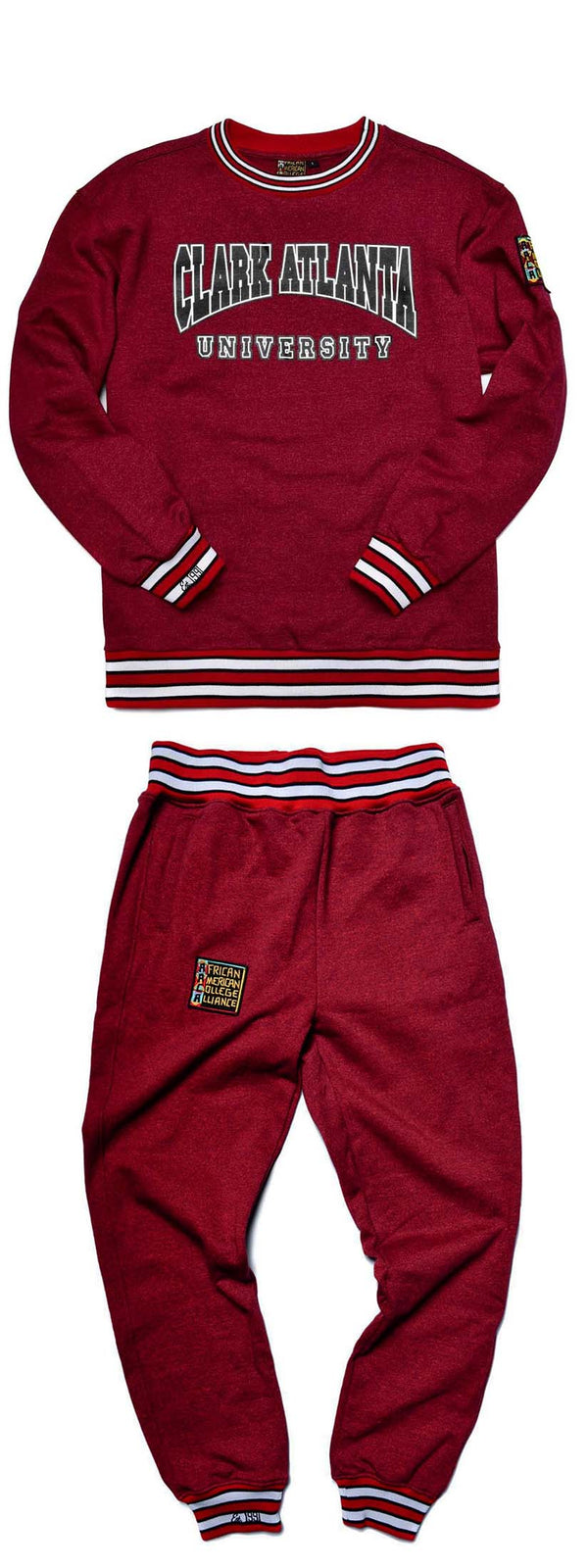 Clark Atlanta University Classic '91  Crewneck Sweat Suit Red Heather