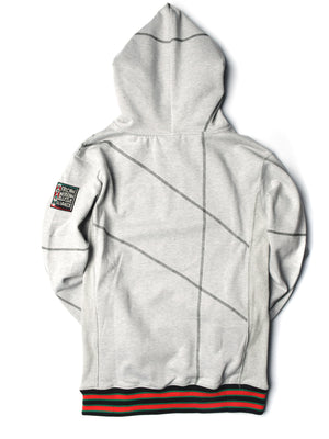 "FTP Compton Community College Original '92 ""Frankenstein"" Stitched Hoodie MDH. Grey / Black"