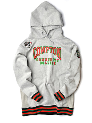 FTP Compton Community College Classic '91 Hoodie MDH. Grey