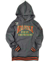 "FTP Norfolk State University Original '92 ""Frankenstein"" Stitched Hoodie Charcoal Grey / Kelly Green"