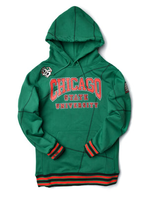 "FTP Chicago State University AACA Original '92 ""Frankenstein"" Stitched Hoodie Kelly Green/Black"