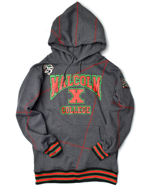 Malcolm X College Frankenstein 92 Stitch Hoodie Sweatsuit Charcoal Grey/ Red