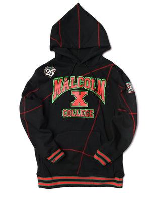 Malcolm X College Frankenstein 92 Stitch Hoodie Sweatsuit Black/ Red