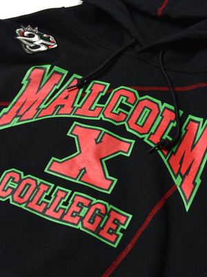 Malcolm X College Frankenstein 92 Stitch Hoodie Black/ Red
