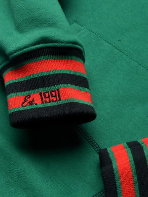 "FTP Norfolk State University AACA Original '92 ""Frankenstein"" Stitched Hoodie Kelly Green/Black"