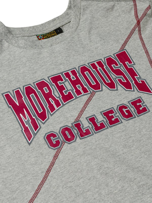 "Morehouse Classic ""Frankenstein"" Crewneck T-Shirt MDH Grey/Maroon"
