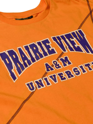 "Prairie View A&M Classic ""Frankenstein"" Crewneck T-Shirt Old Gold/Purple"