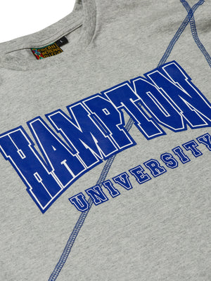 "Hampton University Classic ""Frankenstein"" Crewneck T-Shirt MDH Grey/Royal Blue"