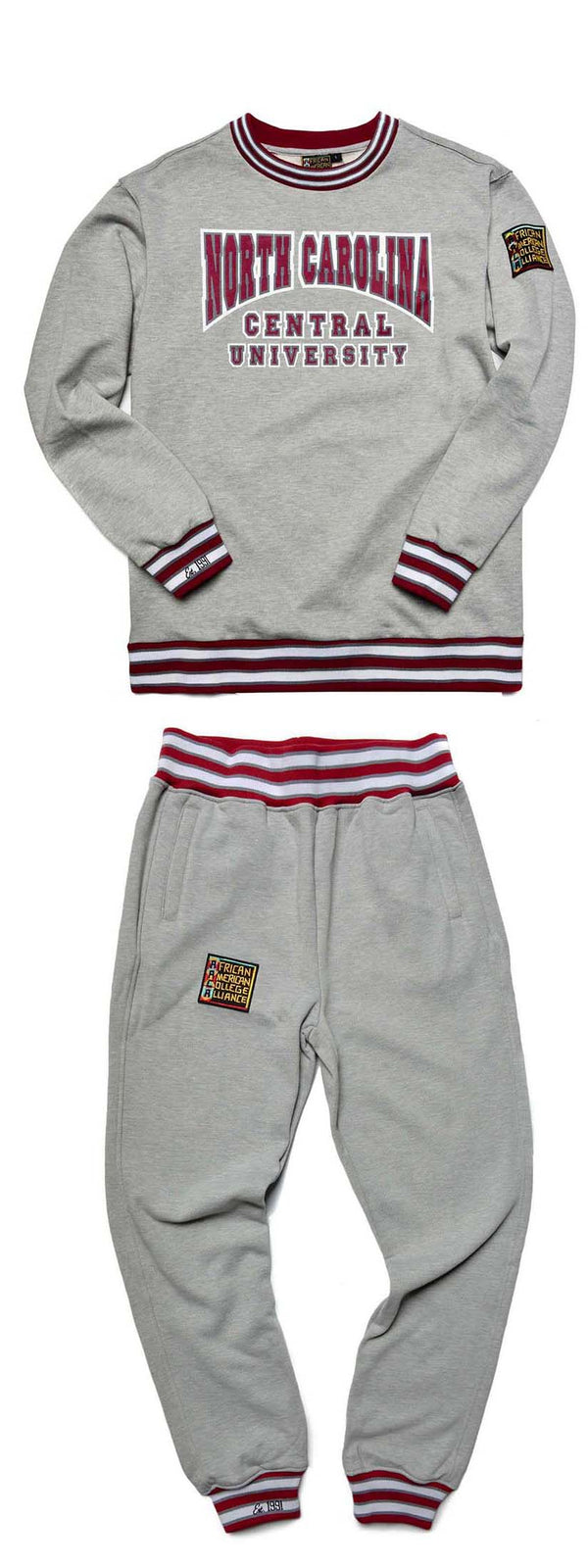 North Carolina Central University Classic '91 Crewneck Sweat Suit MDH Grey