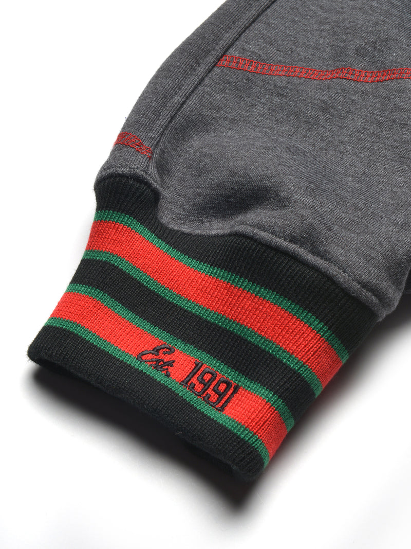 "FTP Original '92 ""Frankenstein"" Stitched Sweatpants Charcoal Grey/Red"