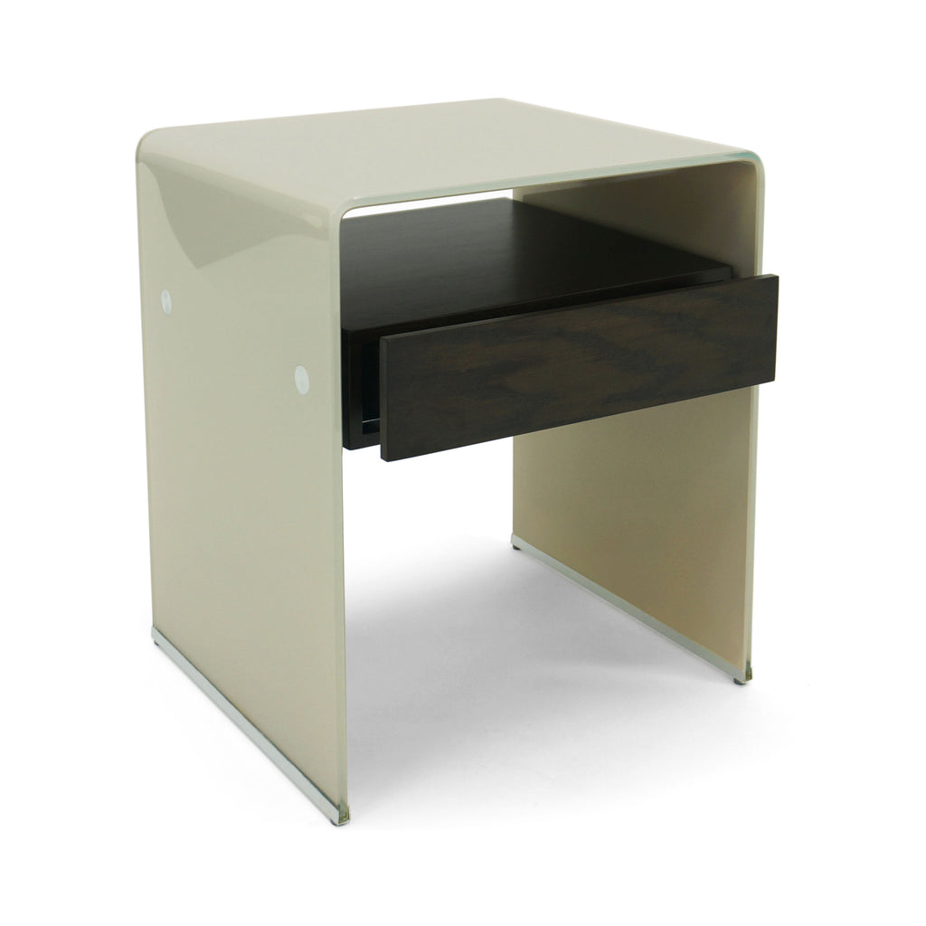 Mesa Lateral Graffetta - Solid Beige & Walnut