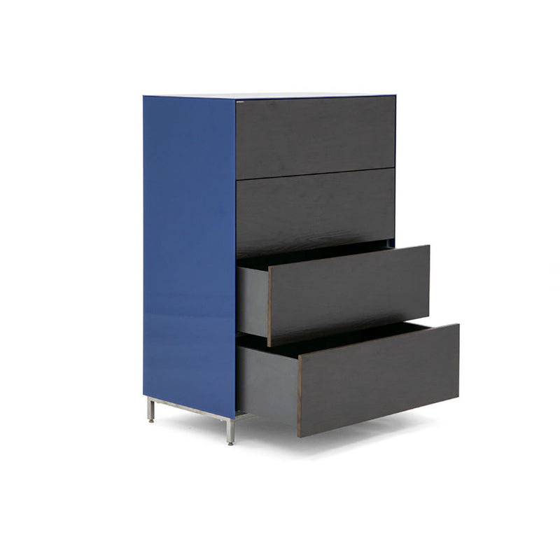 Cajonera Carlo - Solid Black & Electric Blue / Reflexio