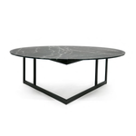 Mesa de Centro Cut - Frosted Black Marble