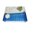 Mesa de Centro Diagonal - Translucent Electric Blue