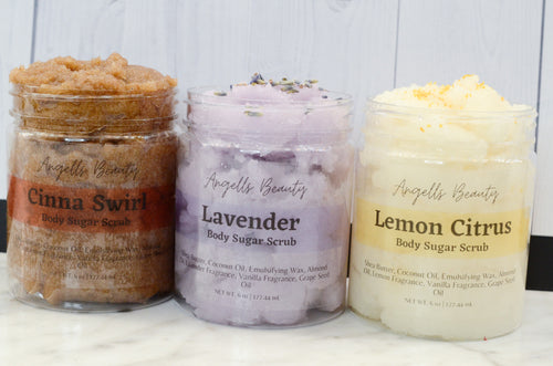 Lavender Sugar Scrub | Whipped Sugar Scrub is a luxury exfoliating emulsified scrub spa gift perfect for anniversaries- Self Care,
