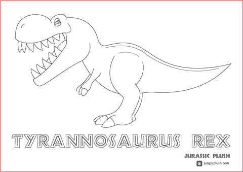Jurassic Plush Colouring sheet (Click on the link to download)