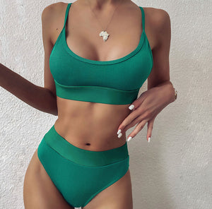 Reese Ribbed Bikini Set