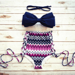 Bikini N' Waves: Swimsuit - Super Sweet High Waist Swimsuit