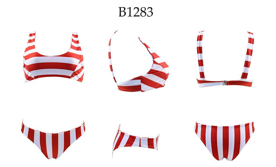 Bikini N' Waves: Two Piece Swimsuit - Milan Sports Striped Bikini Set