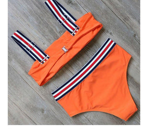 Bikini N' Waves: Two Piece Swimsuit - Miami Beach Luxe Sports Bikini Set
