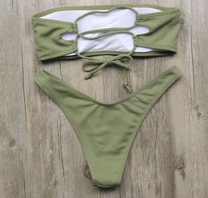 Bikini N' Waves: Two Piece Swimsuit - Ireland Strapless Basic Bikini Set