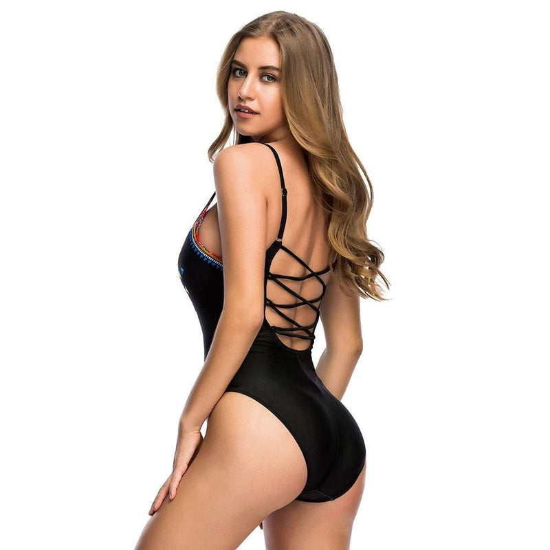 Bikini N' Waves: One Piece Swimsuit - Vintage Low Back Swimsuit