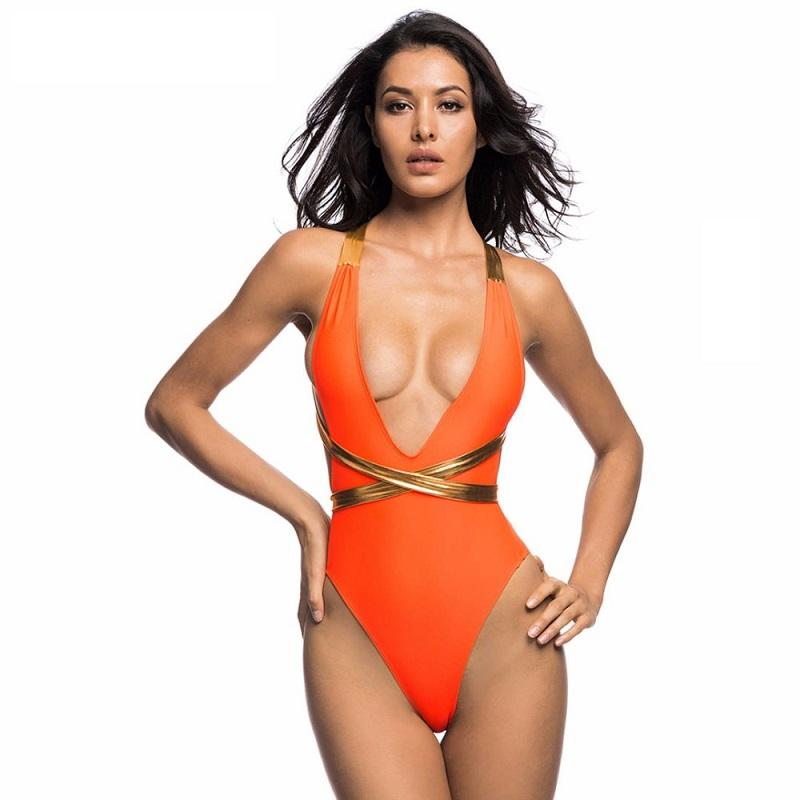 Bikini N' Waves: One Piece Swimsuit - Hollywood Wrap Backless Monokini