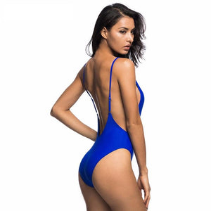 Bikini N' Waves: One Piece Swimsuit - Malta Side Plunge Swimsuit