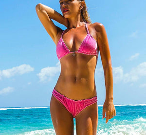 Bikini N' Waves: Bikini Set - Dominica Royal Velvet Triangle Bikini Set