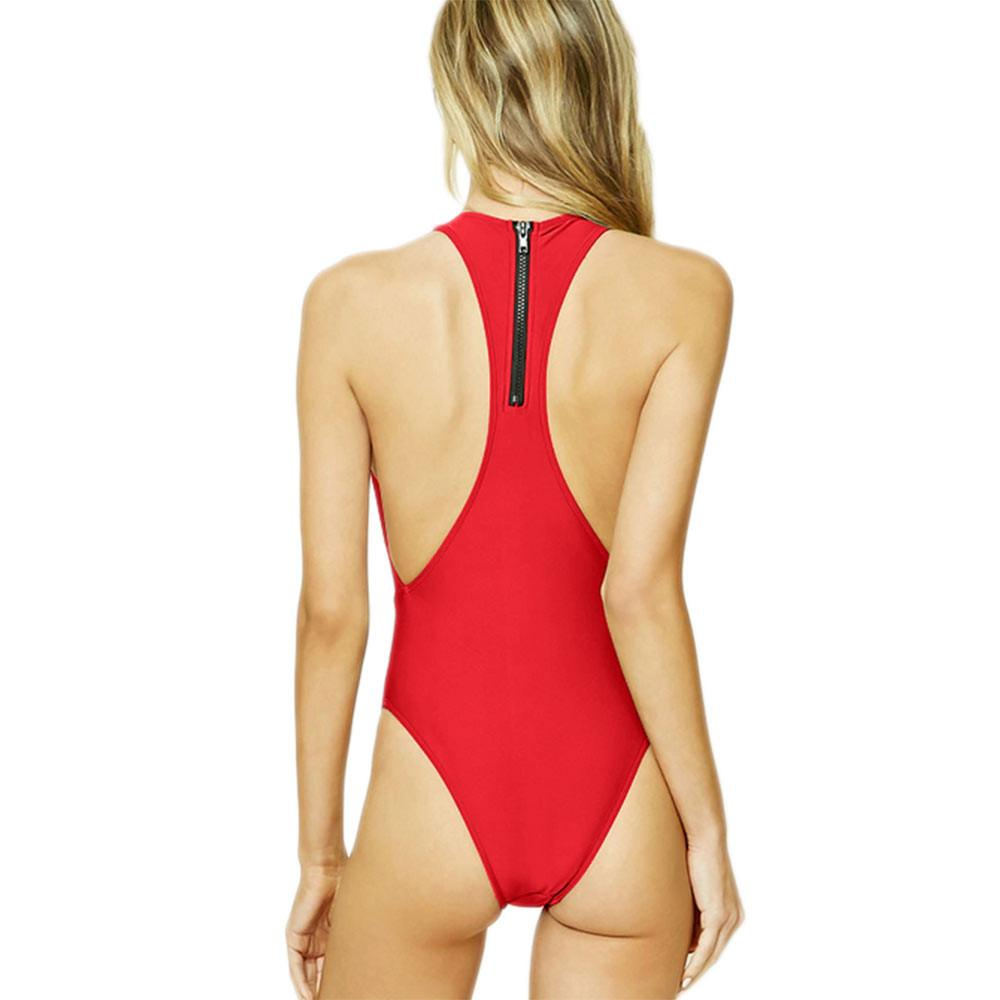Bikini N' Waves: One Piece Swimsuit - Melbourne Lace Up Front Swimsuit
