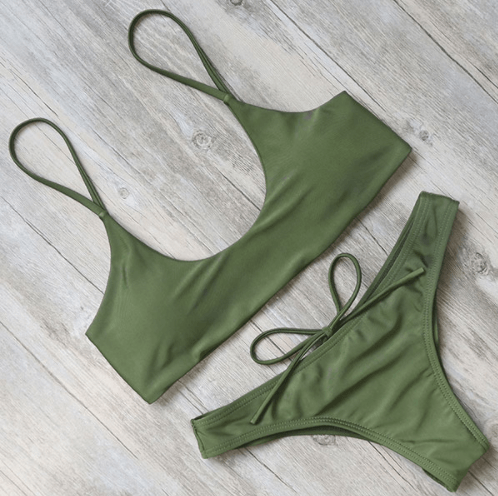 Bikini N' Waves: Two Piece Swimsuit - Tortuga Bay Scrunch Brazilian Bikini Set