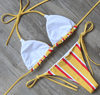 Bikini N' Waves: Two Piece Swimsuit - Rome Sweet Striped Bikini Set