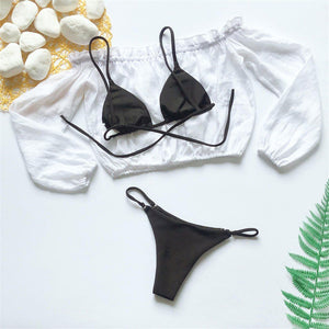 Bikini N' Waves: Three Piece Swimsuit - Maui Micro Three Piece Bikini Set