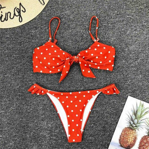 Bikini N' Waves: Two Piece Swimsuit - Florence Polka Dots Bikini Set