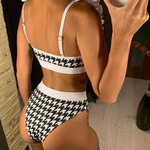 Bikini N' Waves: Two Piece Swimsuit - Manchester Plaid Ruffled Bikini Set
