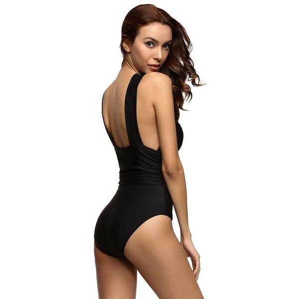 Bikini N' Waves: One Piece Swimsuit - Halter Classic Swimsuit