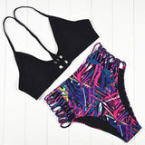 Bikini N' Waves: Bikini Set - Mexico Cut Out Detail Bikini Set