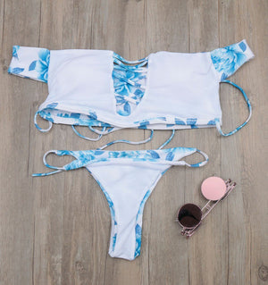 Bikini N' Waves: Bikini Set - Trendy Off Shoulder Bikini Set