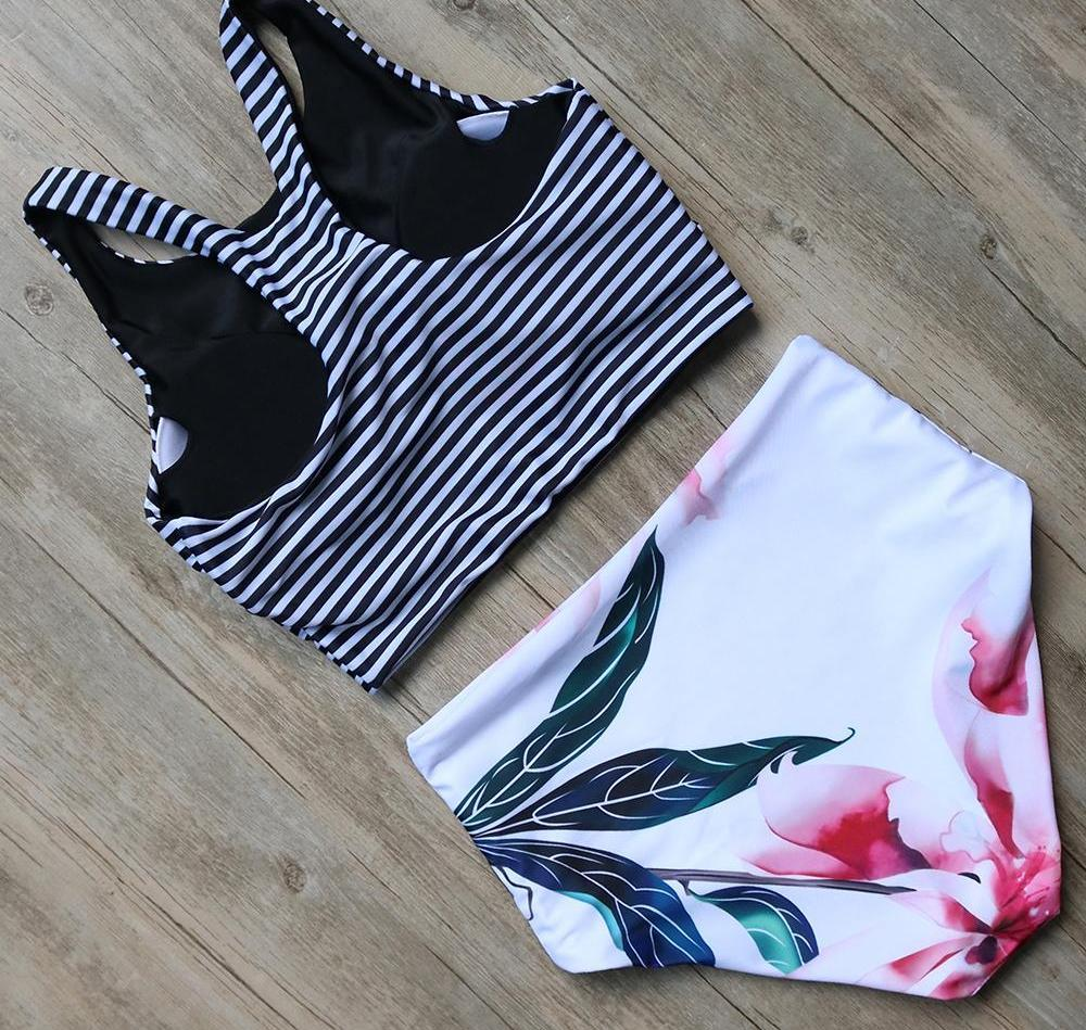 Bikini N' Waves: Two Piece Swimsuit - Venezuela High Waist Bikini Set
