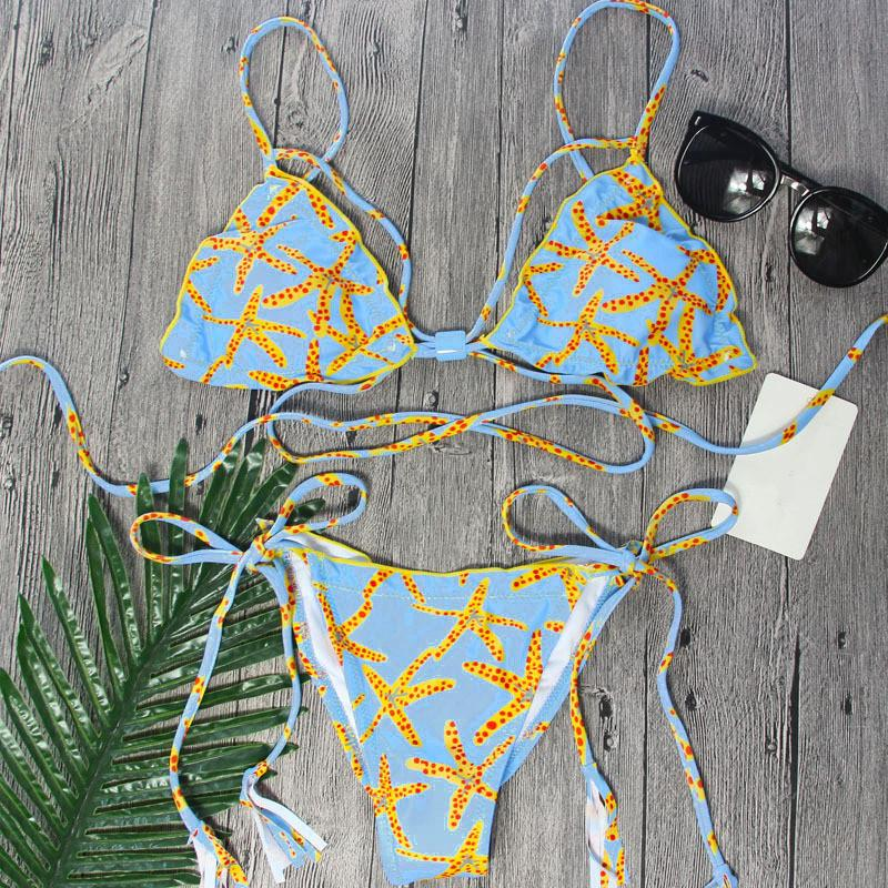 Hawaii Scrunch Butt Print Bikini Set