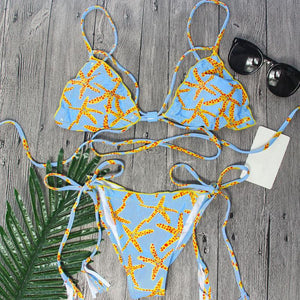 Bikini N' Waves: Bikini Set - Hawaii Scrunch Butt Print Bikini Set