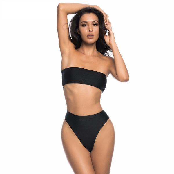 Bikini N' Waves: Two Piece Swimsuit - Italy Bandeau High Waist Bikini Set
