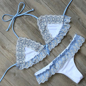 Bikini N' Waves: Two Piece Swimsuit - Panama Sweet Lace Bikini Set