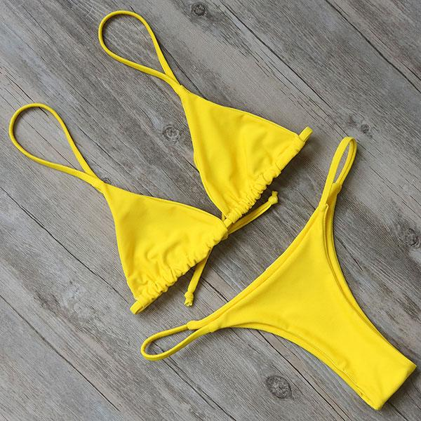 Bikini N' Waves: Two Piece Swimsuit - Macau Micro Triangle Bikini Set